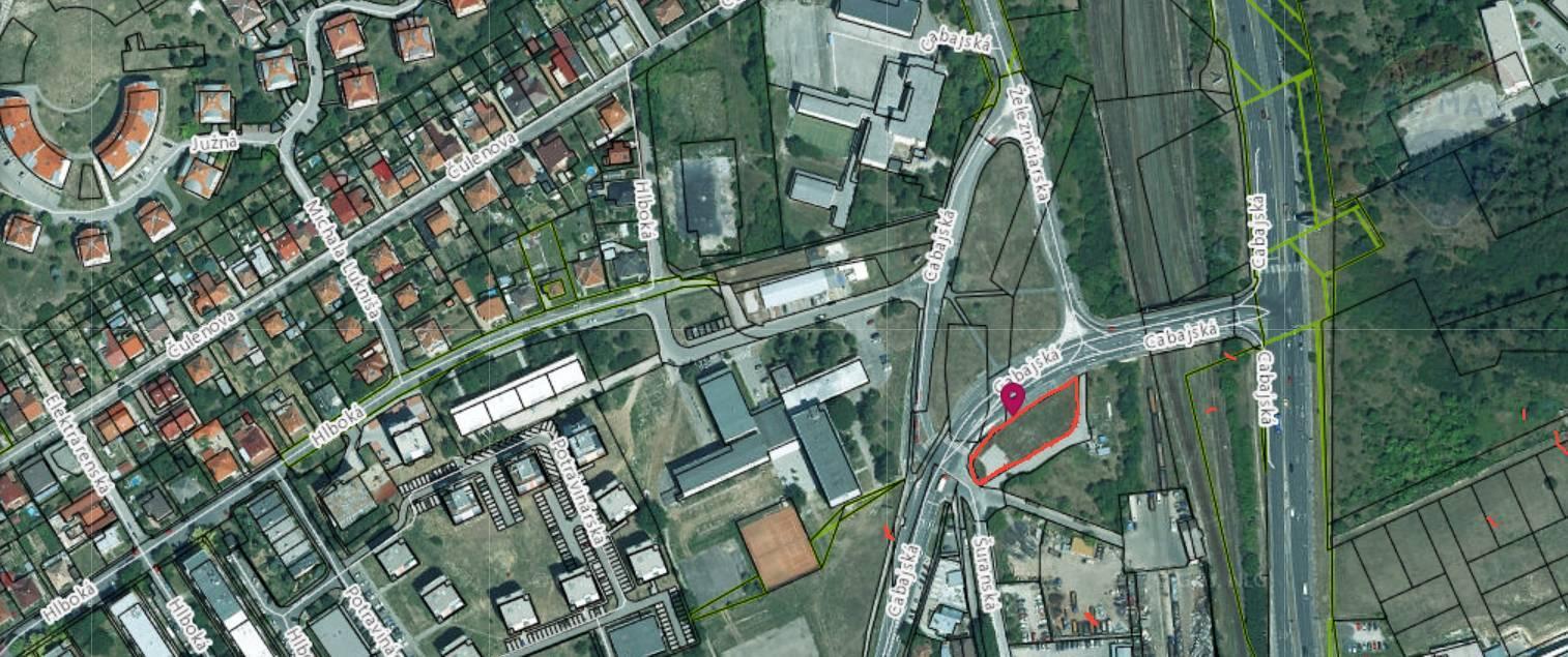 prenájom pozemok na komerčnú výstavbu Nitra, Šuranská